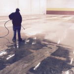 Pressure Washing To Remove Glue From Indoor Soccer Field