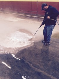 Pressure Washing To Remove Glue From Indoor Soccer Field 06